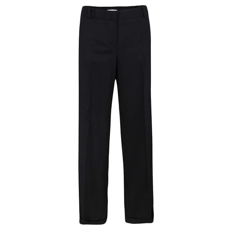 Chloe Black Wool Wide Leg Trousers L