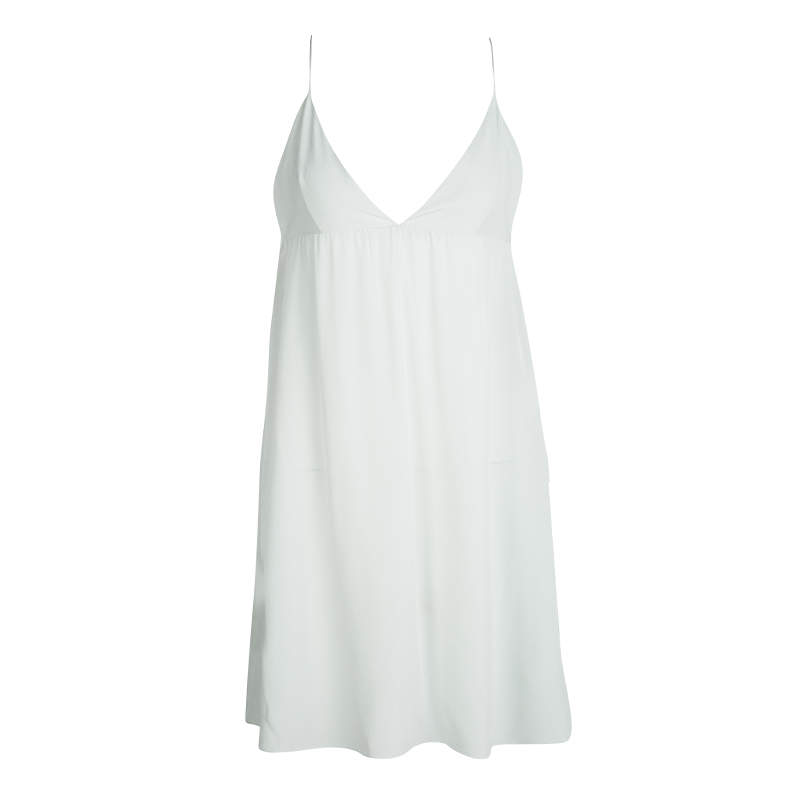 Chloe Faded Mint Green Silk Noodle Strap Camisole S