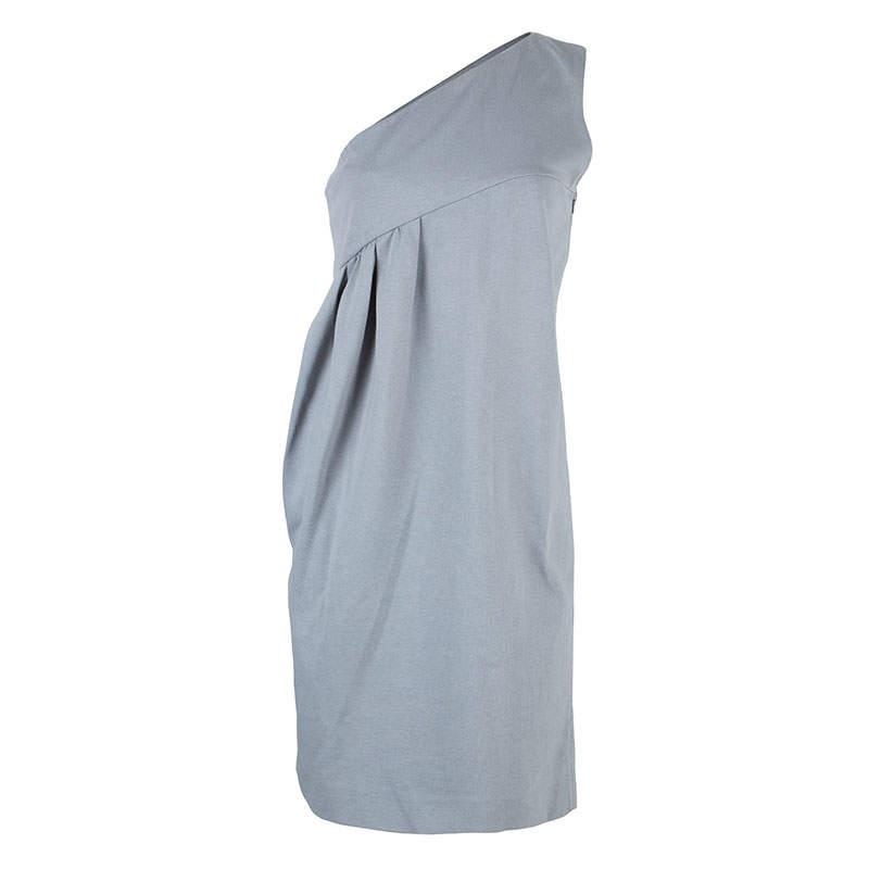 Chloe Grey One Shoulder Dress S