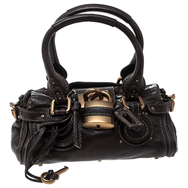 Chloe Dark Brown Leather Mini Paddington Satchel
