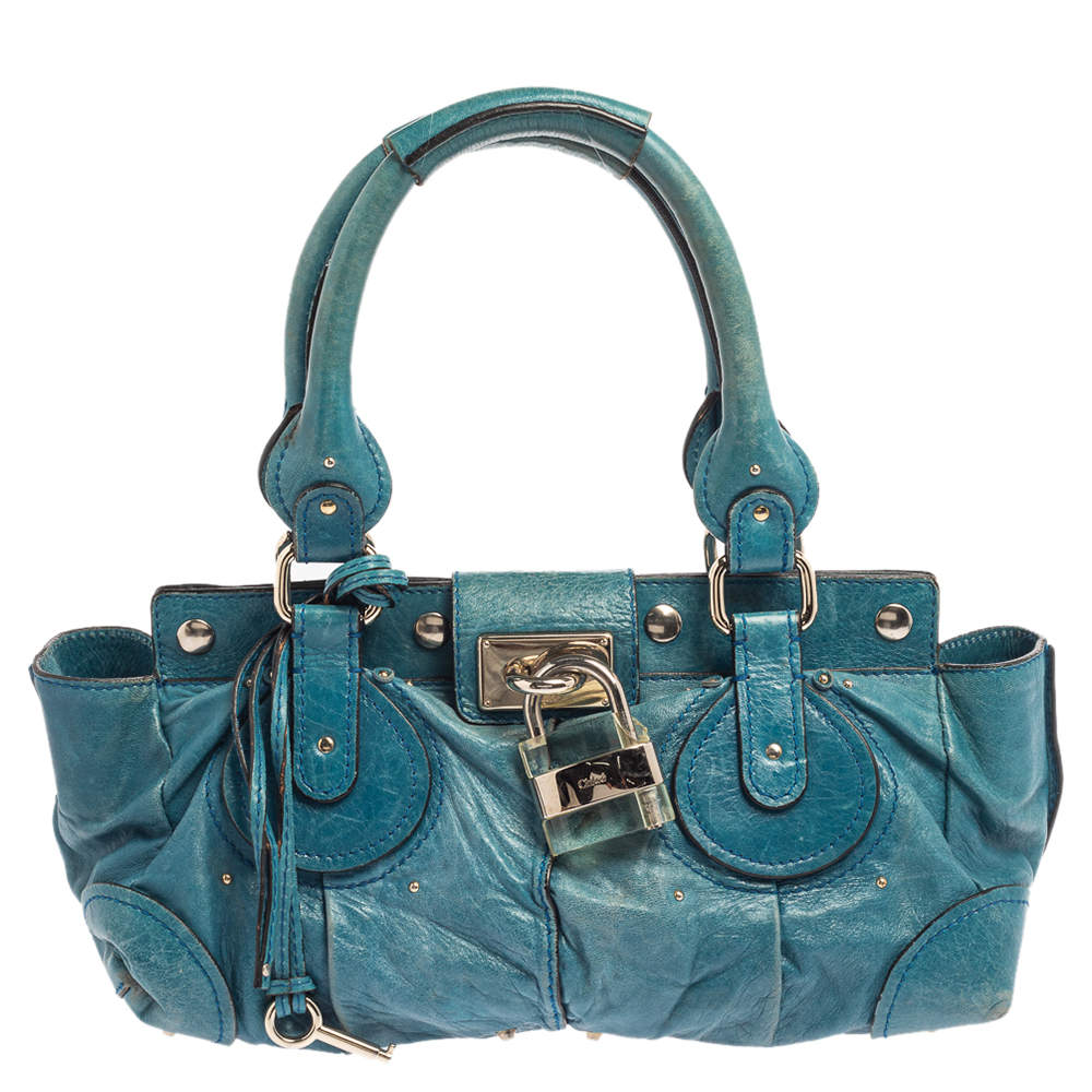 Chloe Blue Leather Paddington Satchel