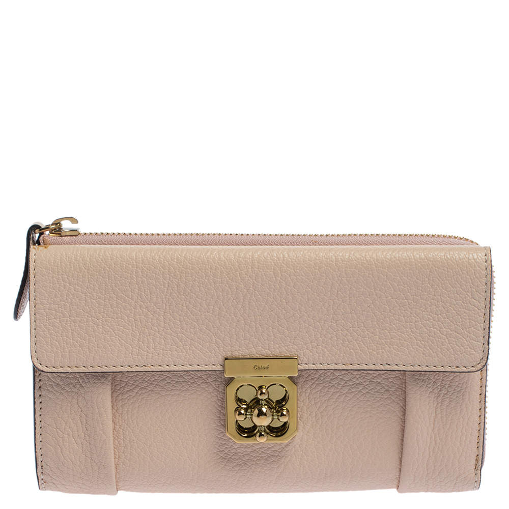 محفظة كونتيننتال كلوي إلسي جلد وردي