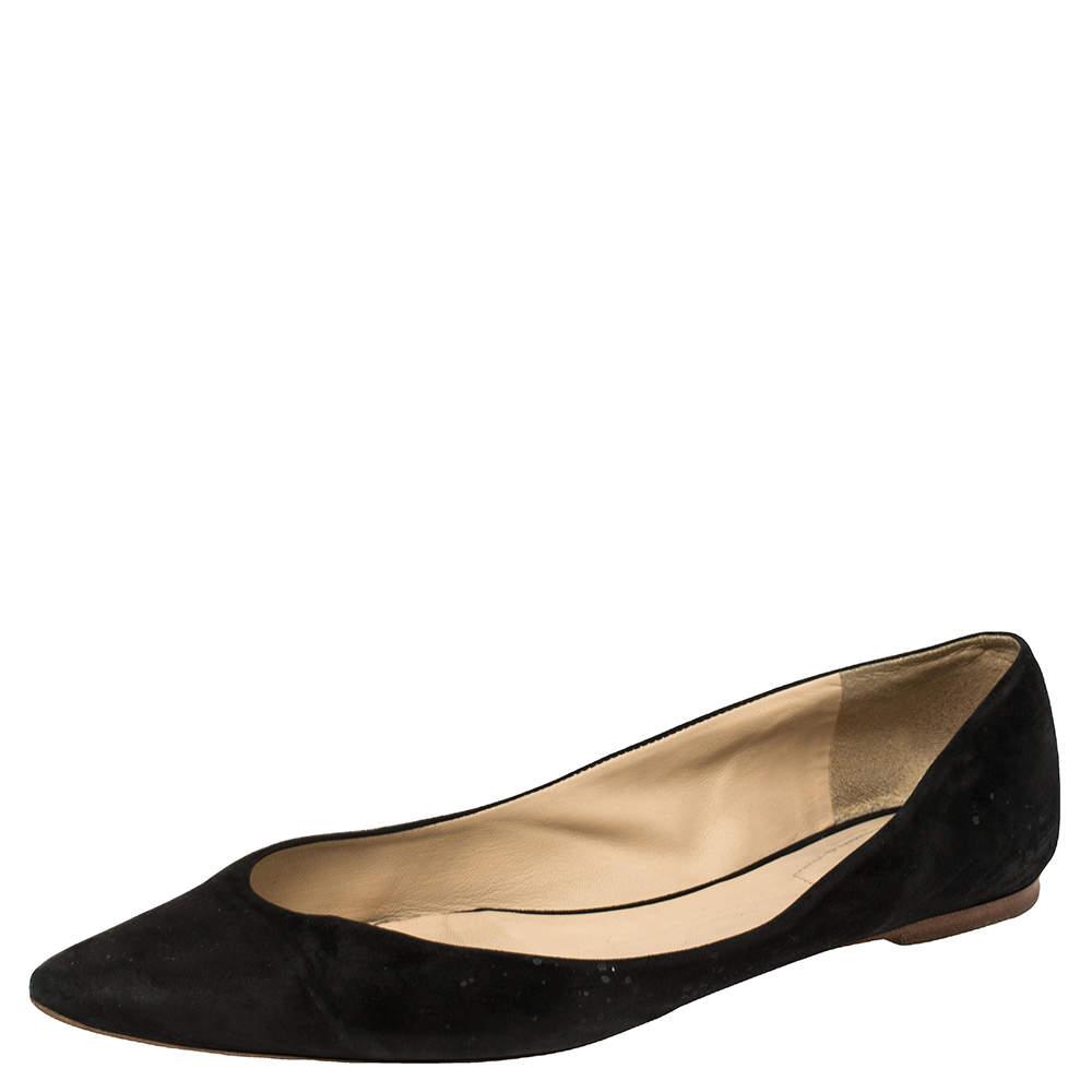 Chloe Black Suede Ballet Flats Size 41