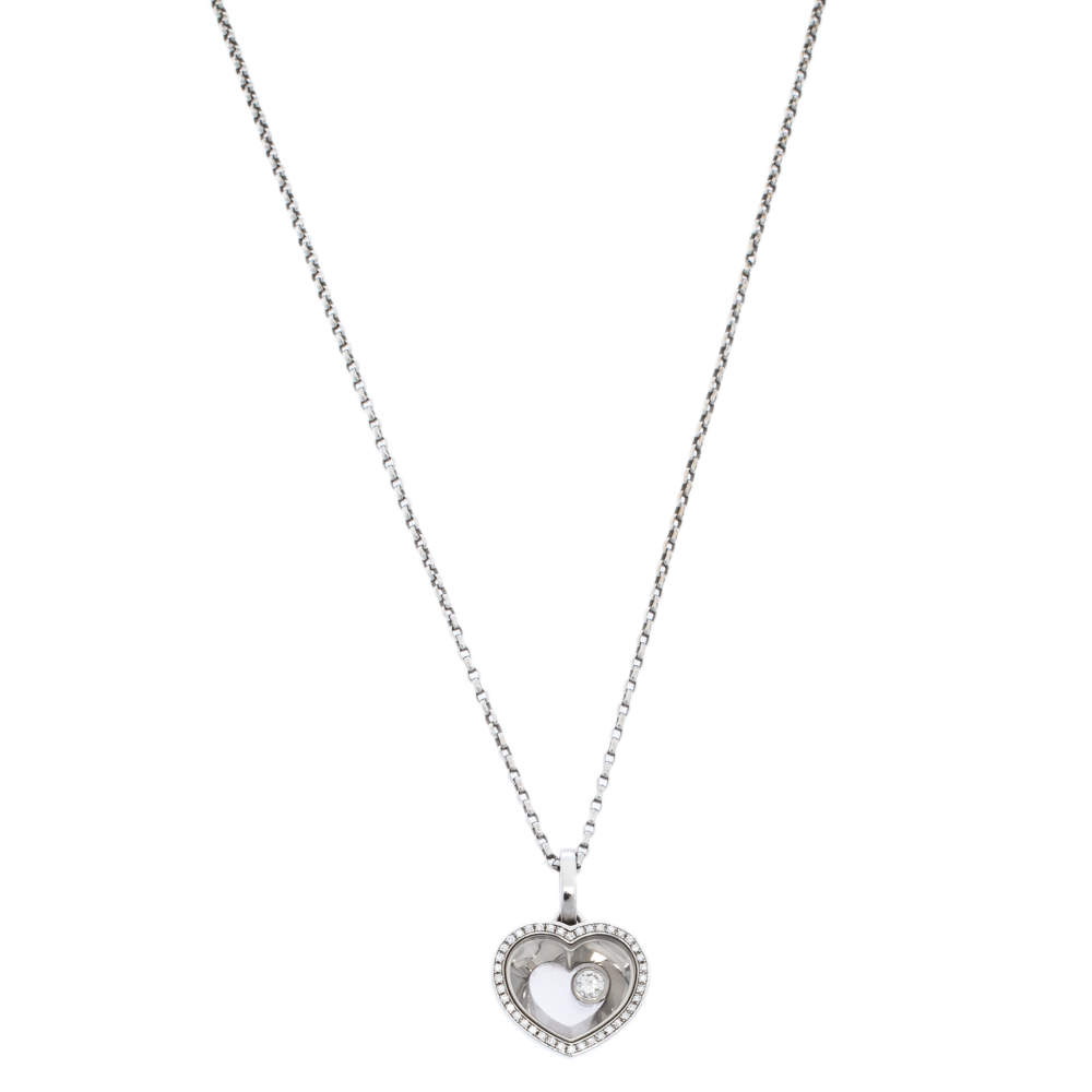 Chopard Very Chopard Diamond 18K White Gold Pendant Necklace