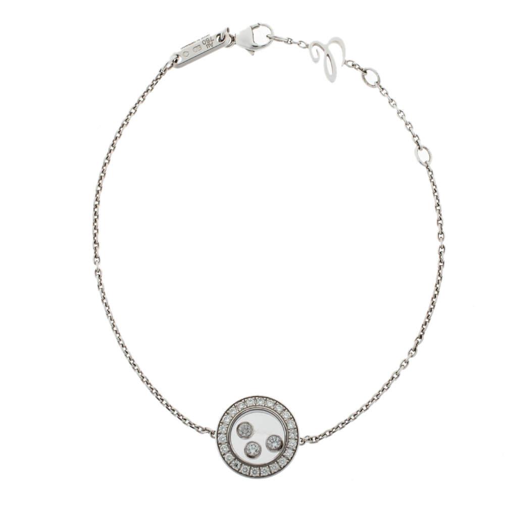 Chopard Happy Diamonds Icons 18K White Gold Chain Link Bracelet