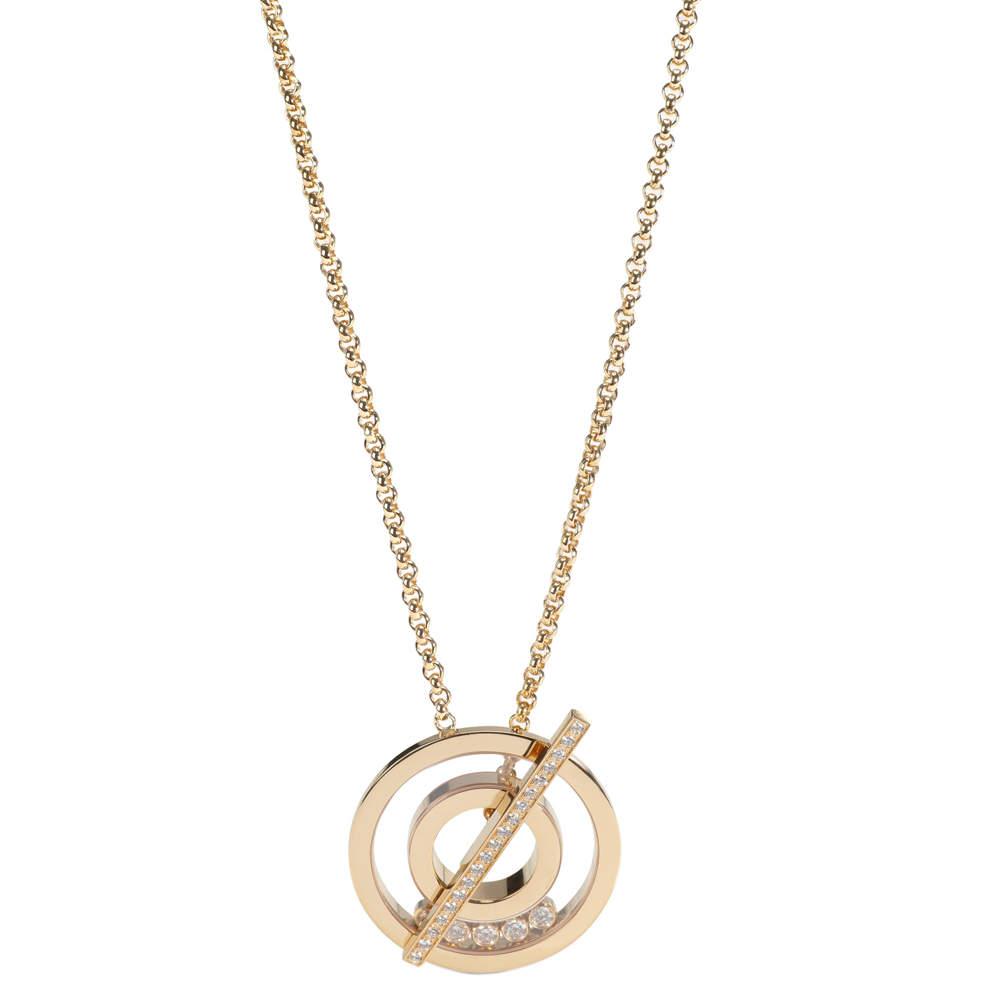 Chopard Happy Diamonds 18K Yellow Gold Necklace
