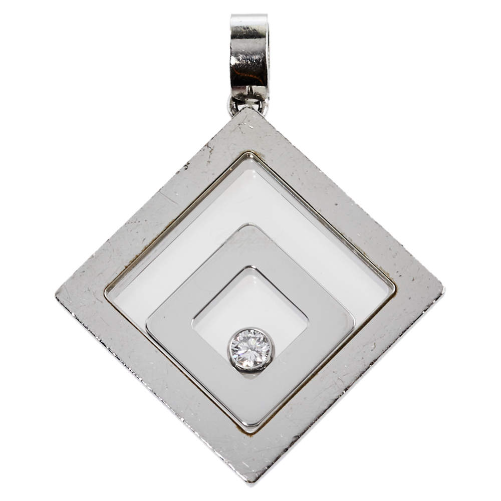 Chopard Happy Spirit Diamond 18K White Gold Pendant