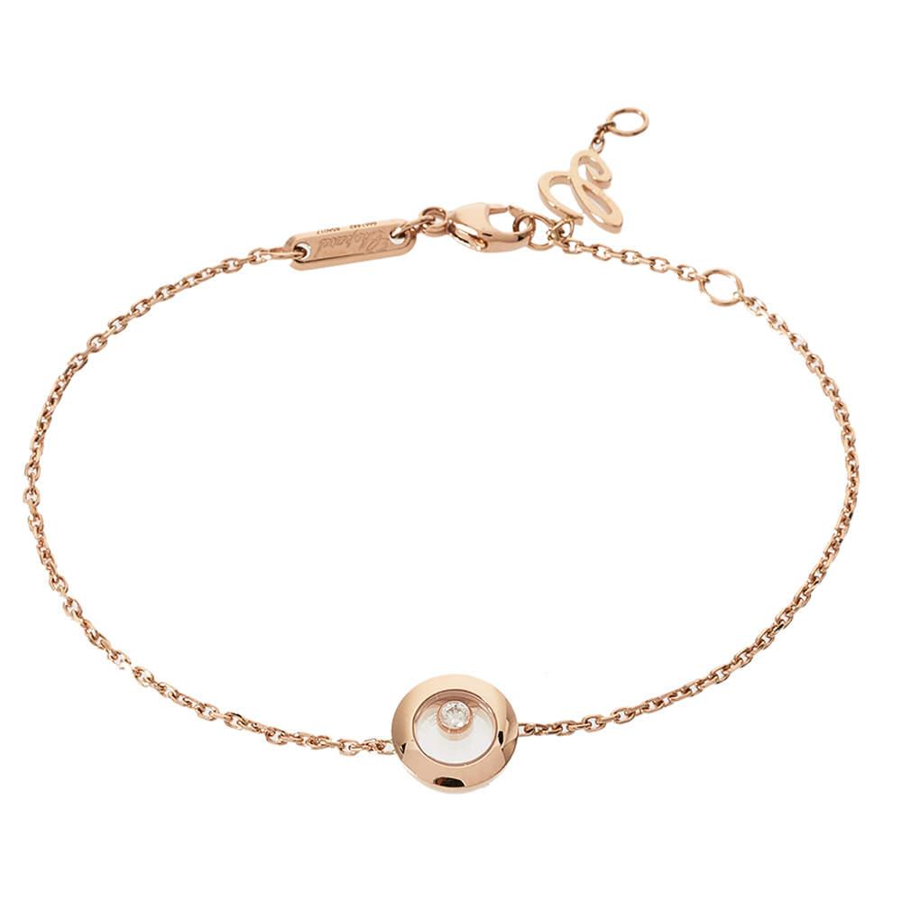 Chopard Happy Diamonds Icons 18K Rose Gold Bracelet