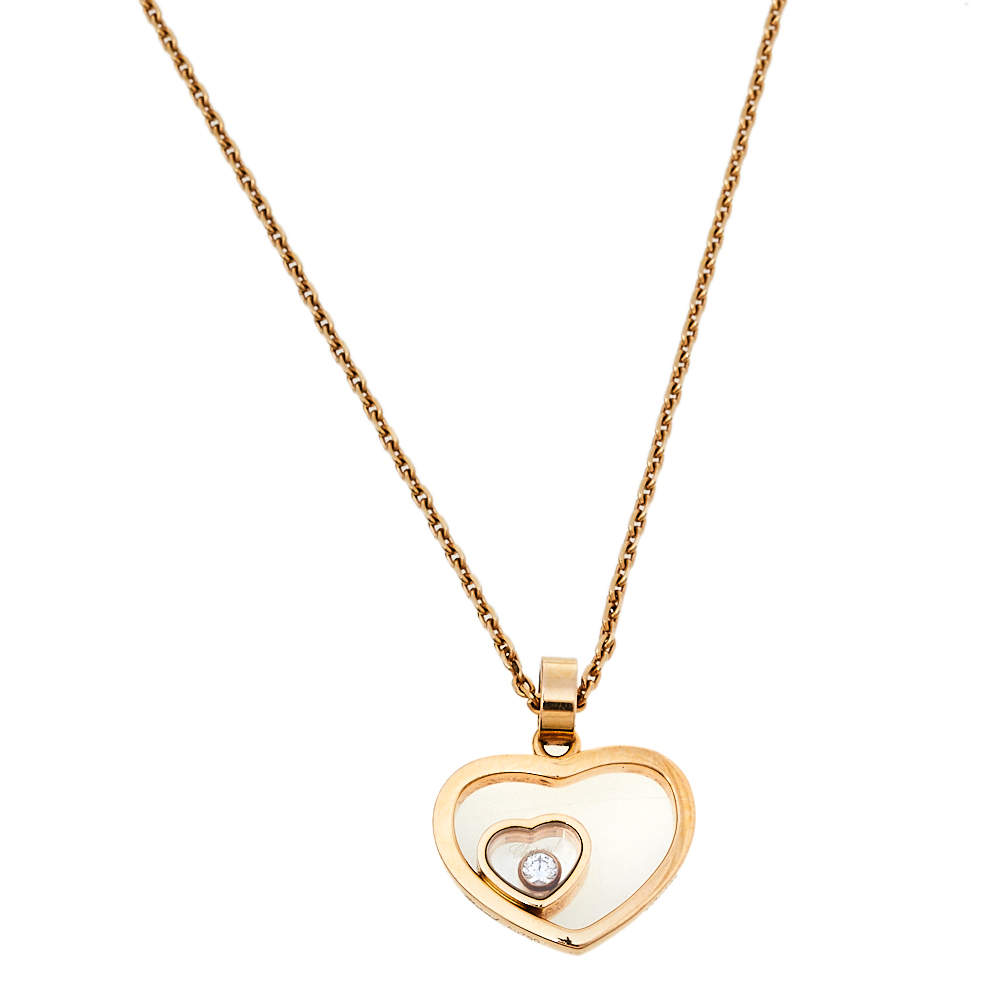 Chopard Happy Diamond Heart 18K Rose Gold Pendant Necklace