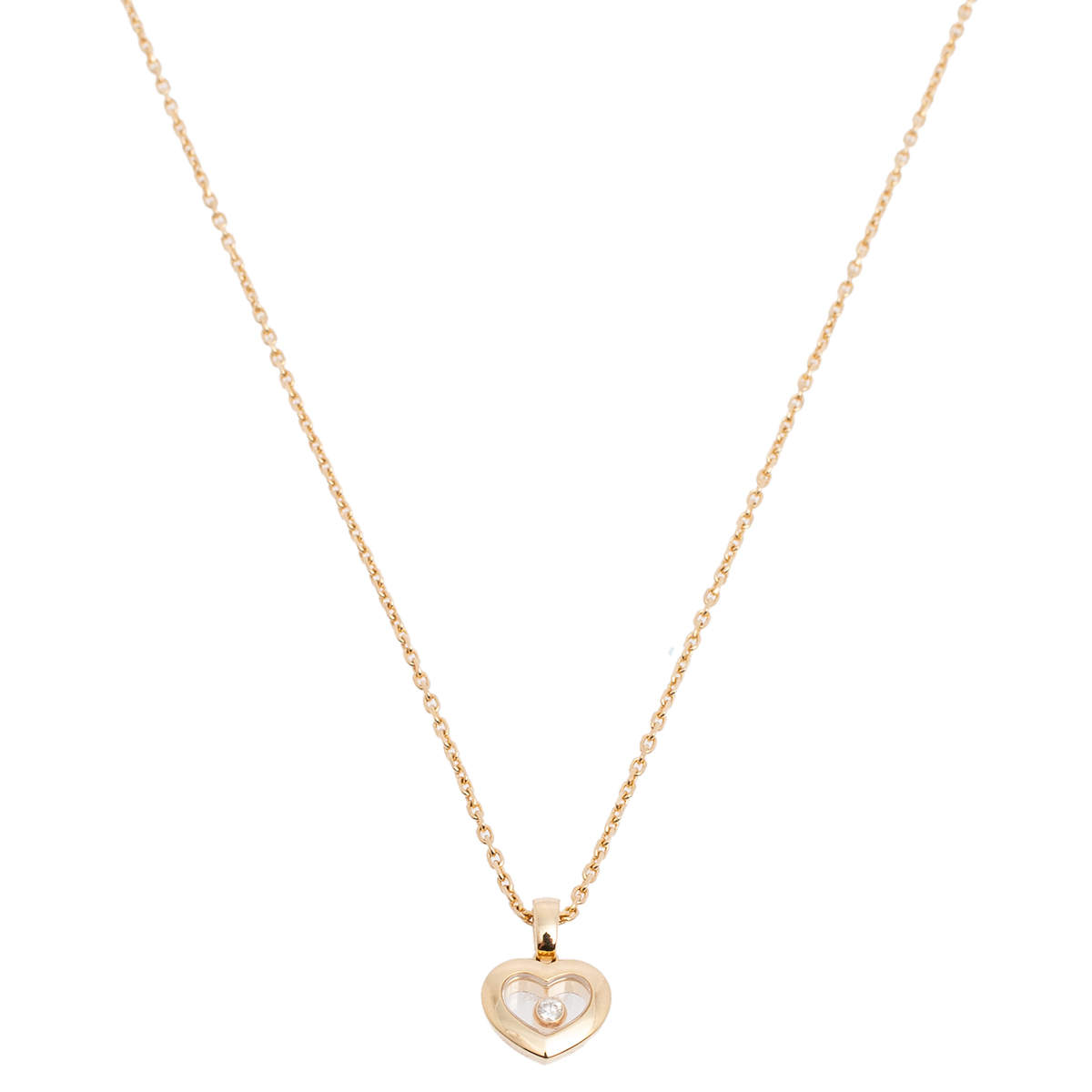 Chopard Happy Diamonds Icons 18k Yellow Gold Heart Pendant Necklace