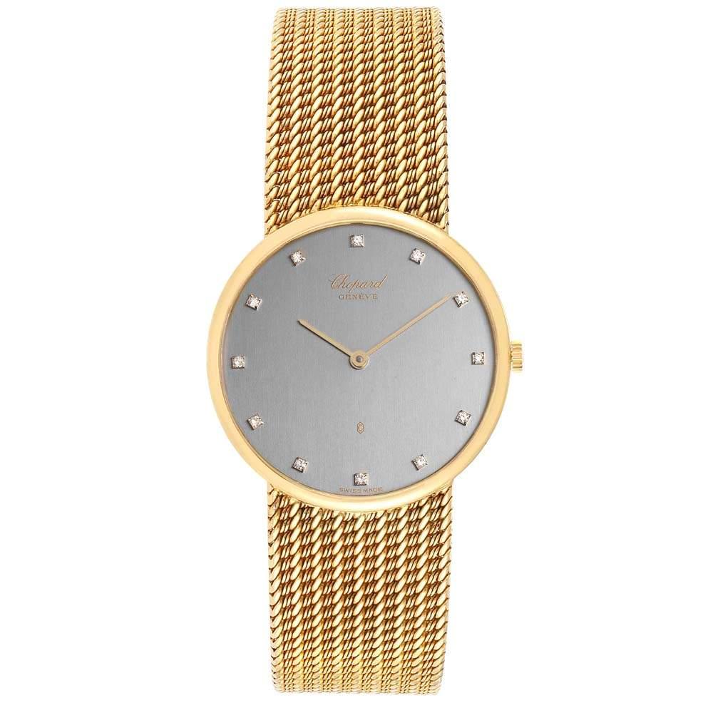 Chopard Gray Diamonds And 18K Yellow Gold Classique Quartz 1091 Women's Wristwatch 31 MM