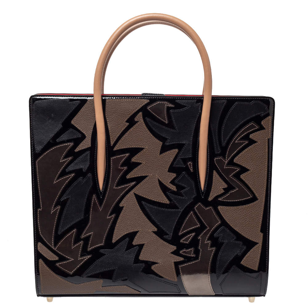 Christian Louboutin Multicolor Leather Medium Paloma Tote