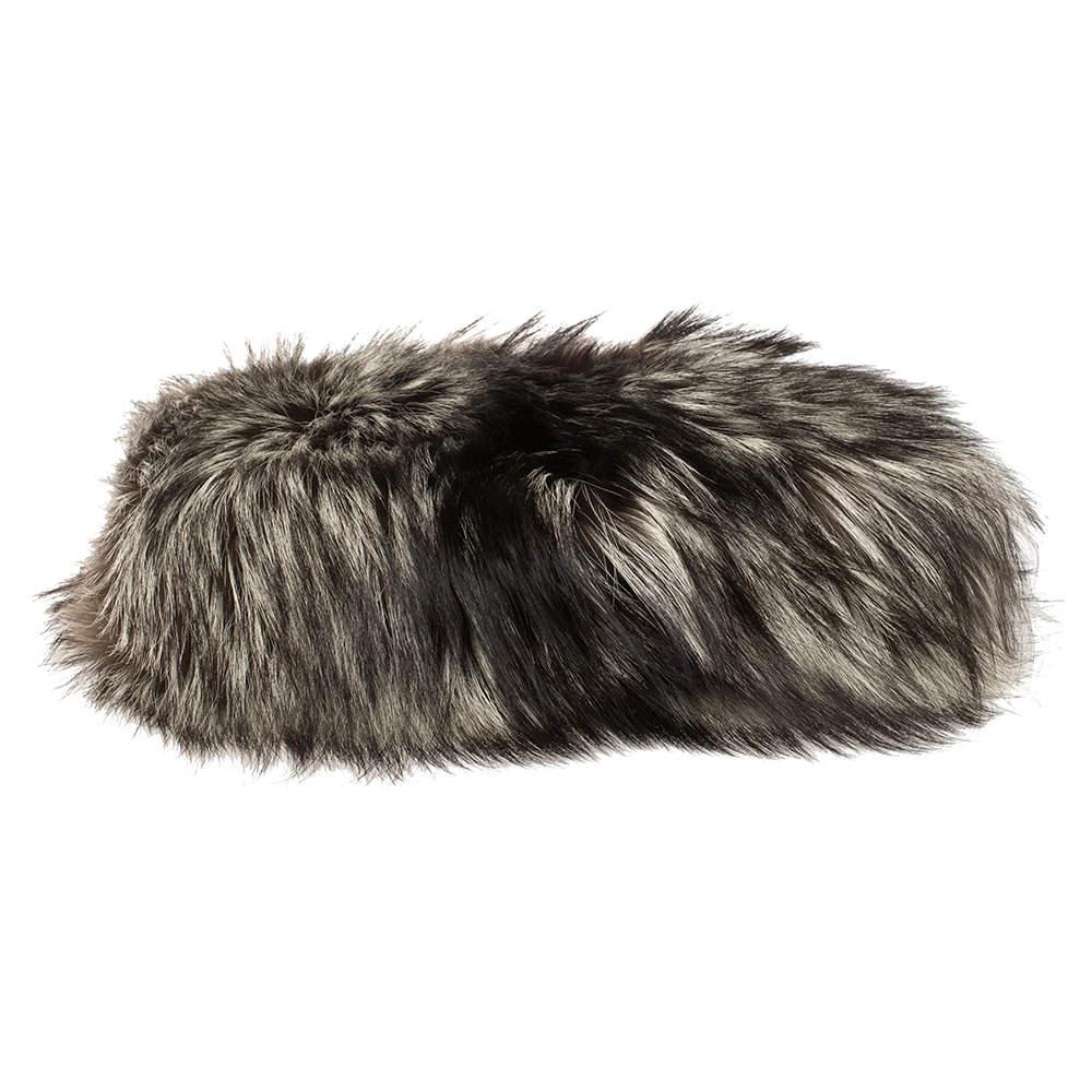Christian Louboutin Tri Color Fox Fur Anastasia Clutch Bag