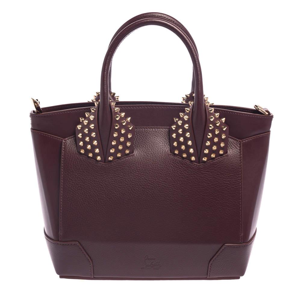 Christian Louboutin Burgundy Leather Small Eloise Satchel