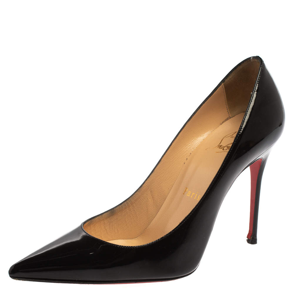 Christian Louboutin Black Patent Leather So Kate Pumps Size 36.5