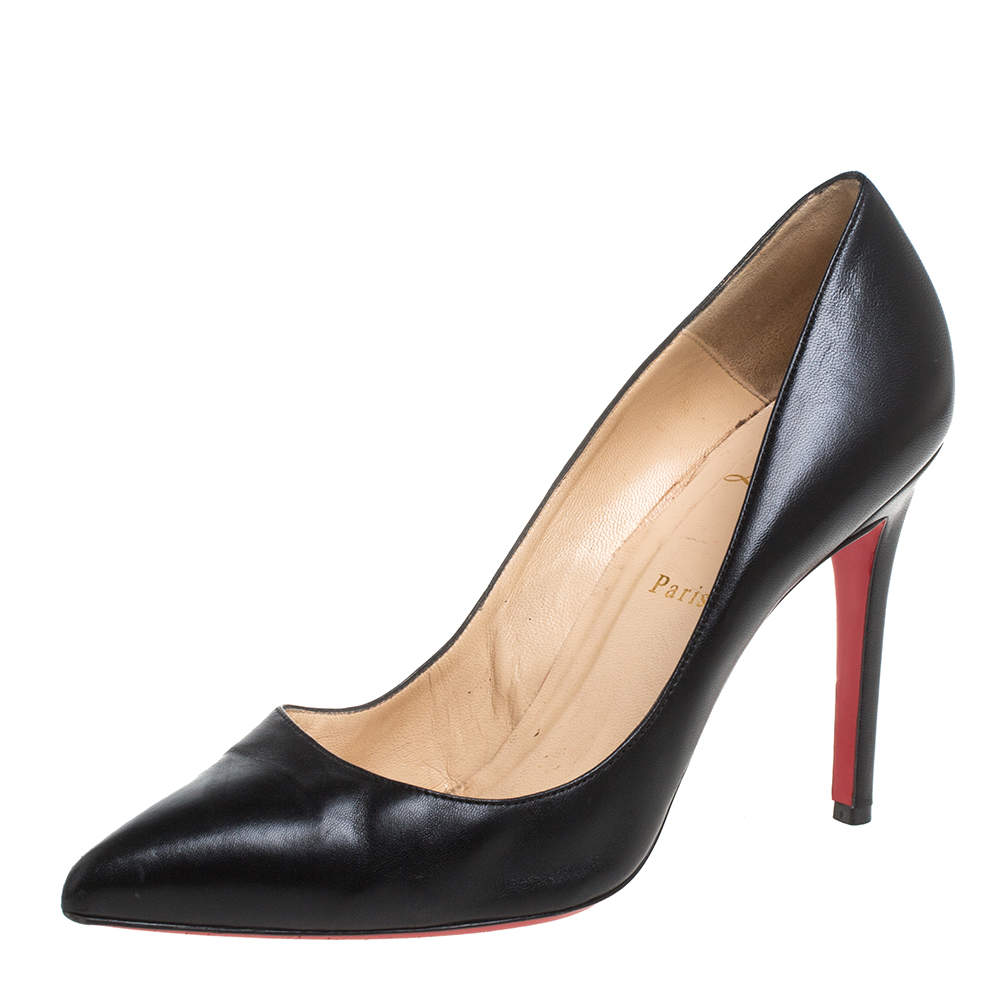 Christian Louboutin Black Leather So Kate Pumps Size 40.5