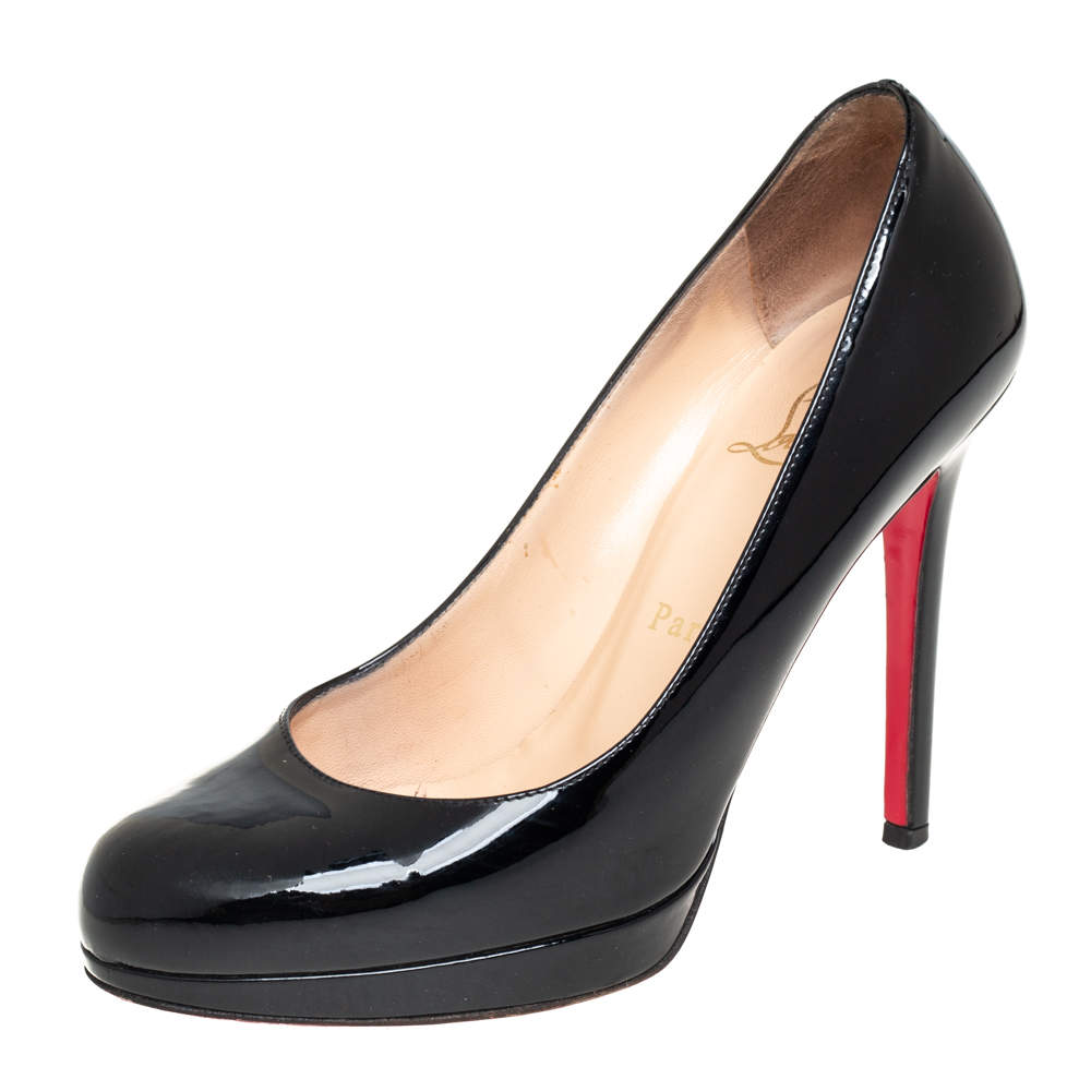 Christian Louboutin Black Patent Leather New Simple Pumps Size 35