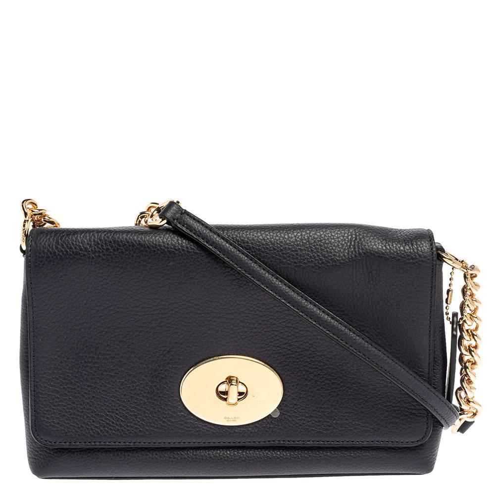 Coach Blue Leather Crosstown Shoulder Bag