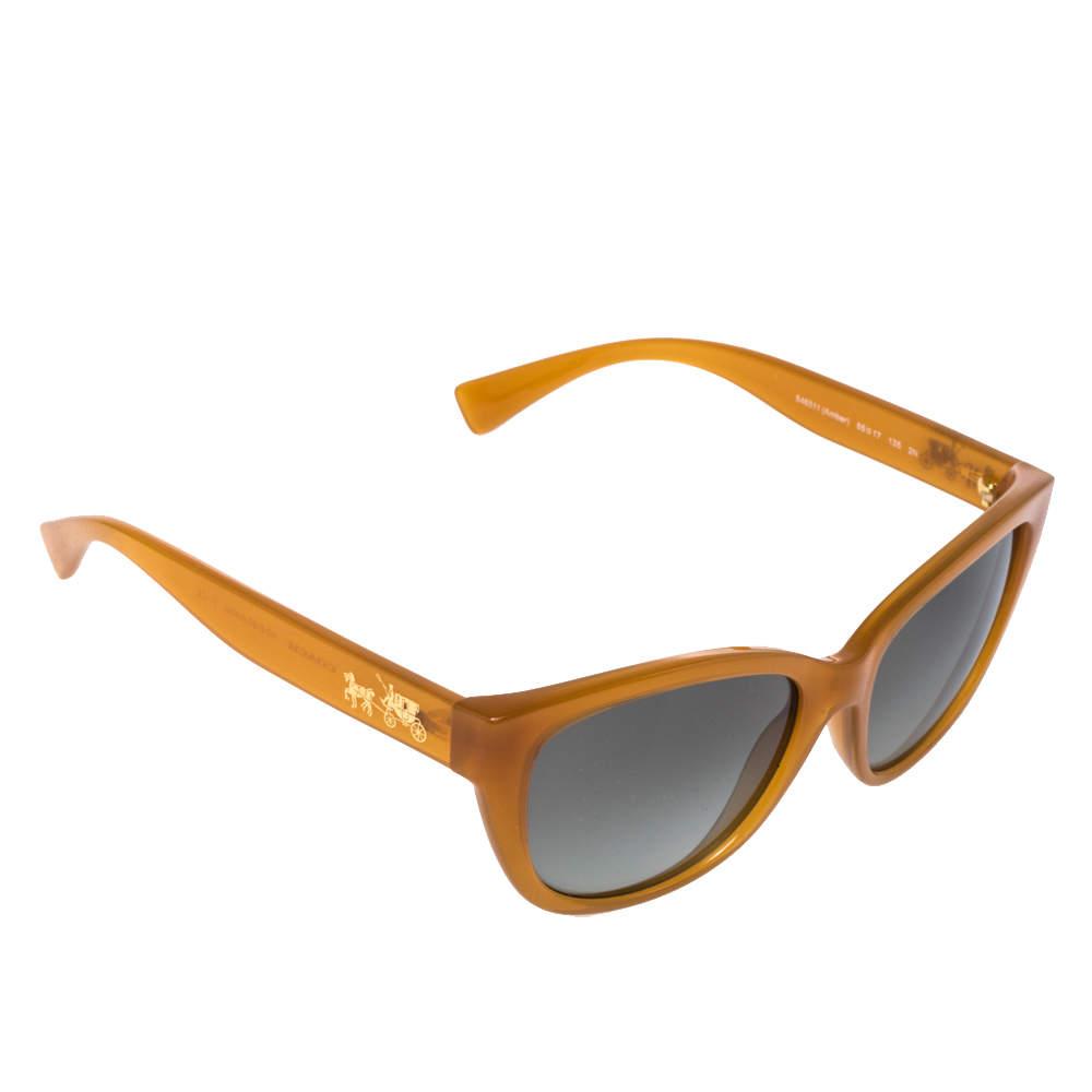 Coach Amber/Grey Gradient 546311 Cat Eye Sunglasses