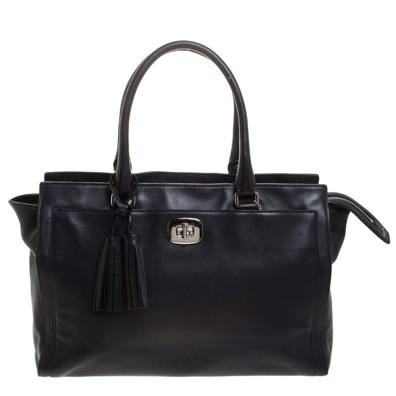 Coach Black Leather Chelsea Caryall Bag