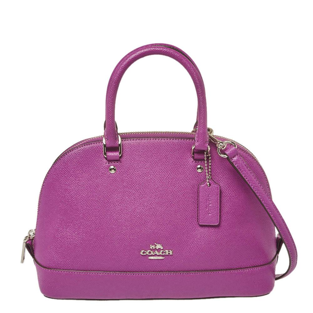 Coach Purple Leather Mini Sierra Satchel