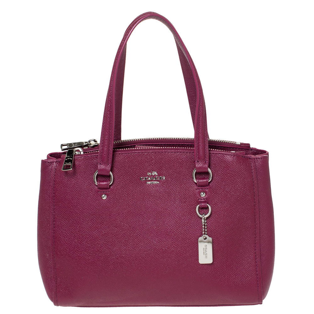 Coach Magenta Leather Stanton 26 Carryall Tote