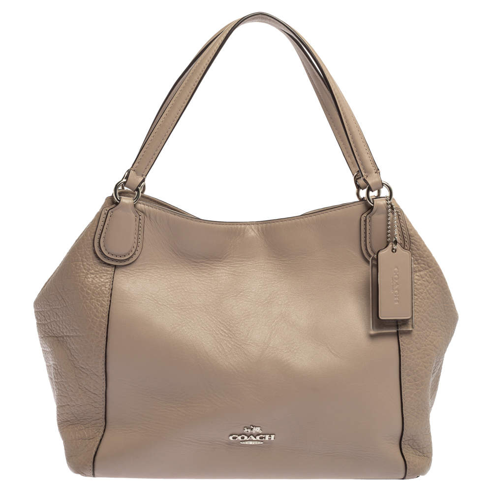 Coach Beige Leather Satchel