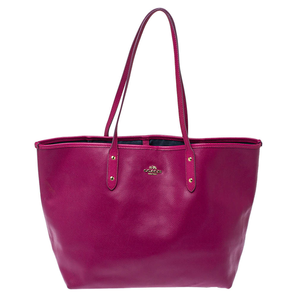 Coach Magenta Leather City Tote