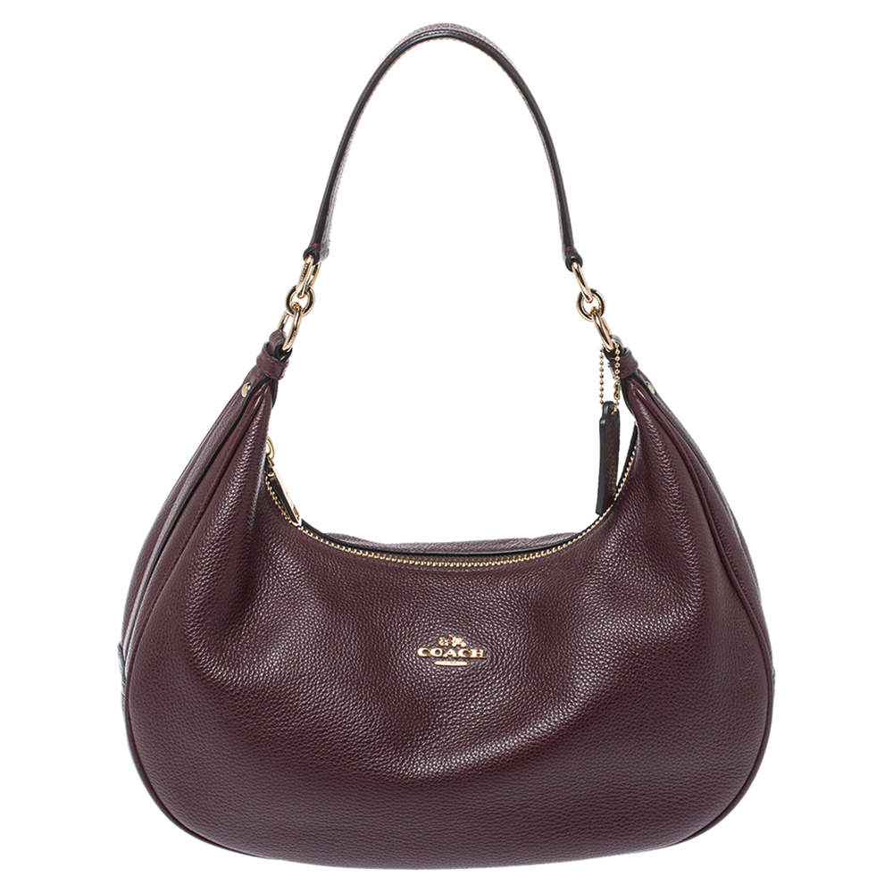 Coach Burgundy Leather Harley Hobo