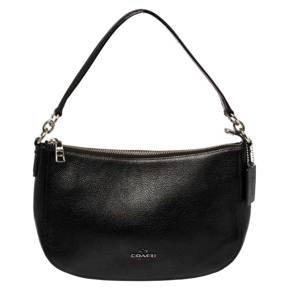 حقيبة كوتش شيلسي جلد أسود