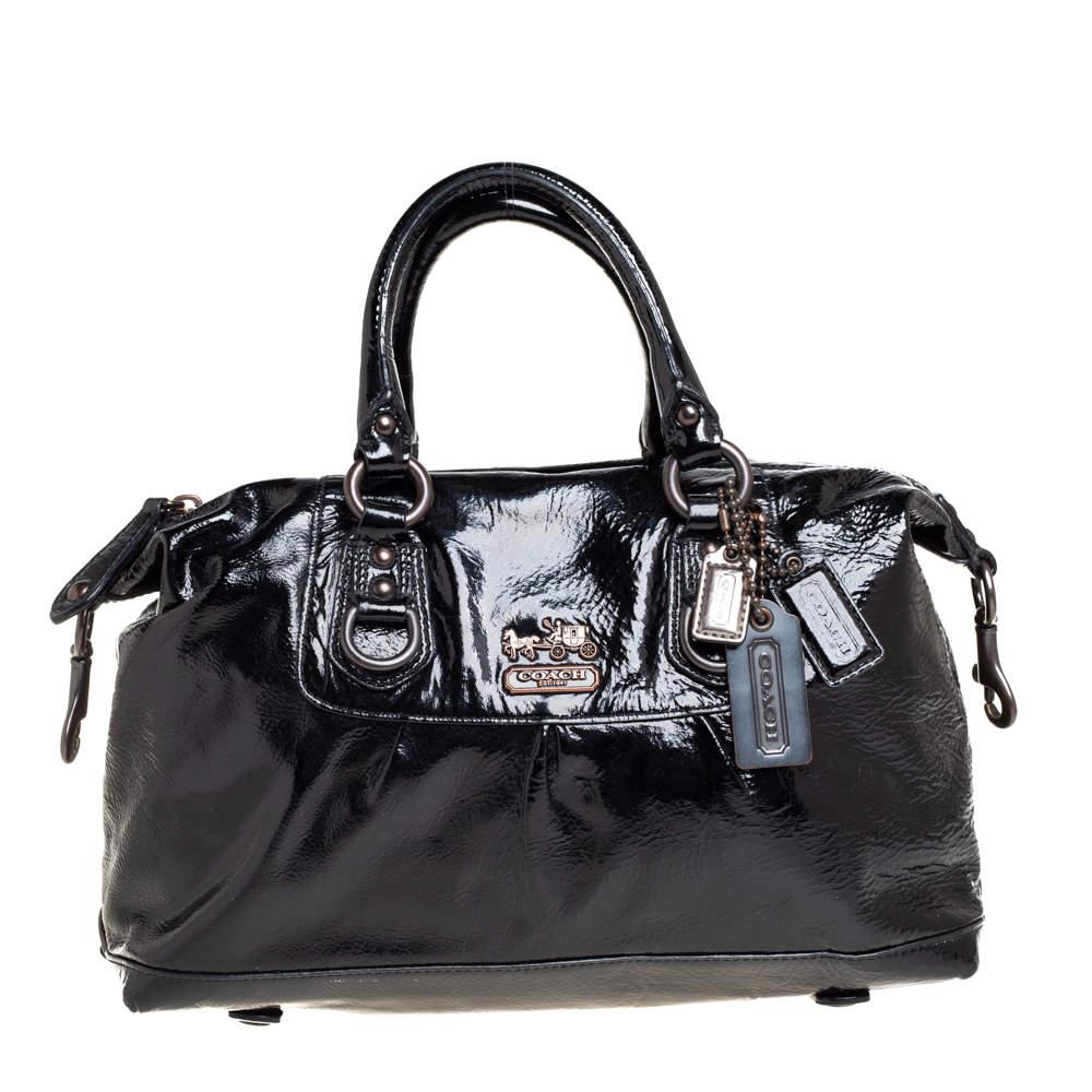 Coach Black Patent Leather Poppy Satchel