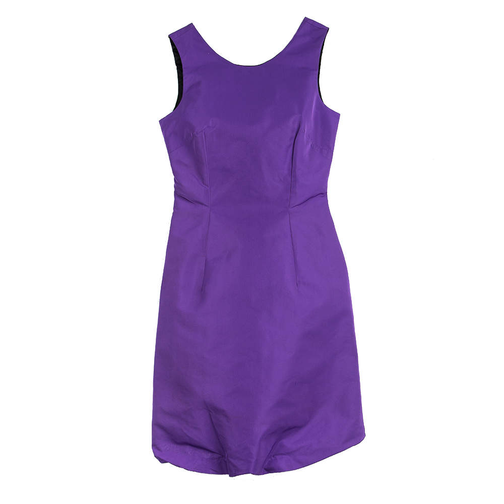 D&G Purple Sleeveless Fitted Dress S