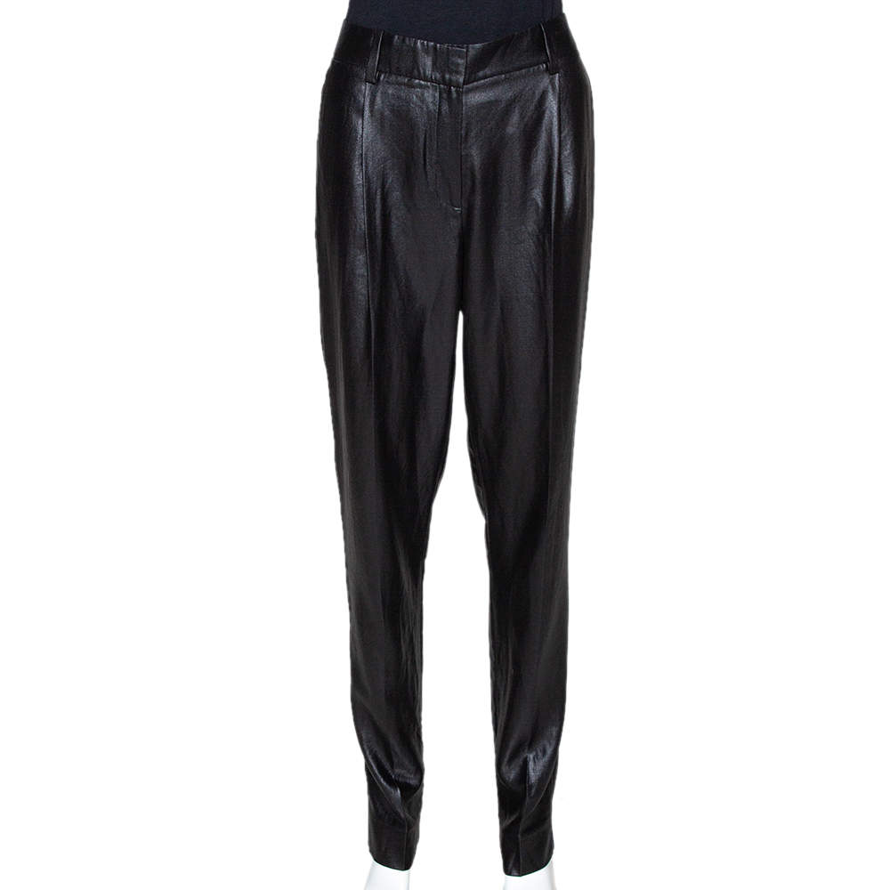 Diane von Furstenberg Black Naples New Lacquer Trousers M