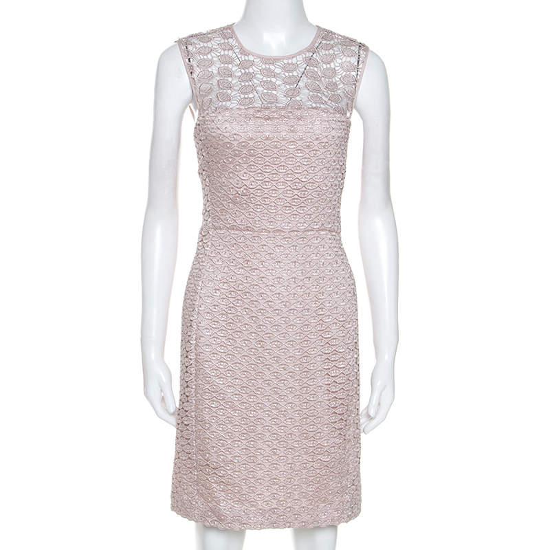 Diane Von Furstenberg Pale Pink Kinchu SG Lace Dress M