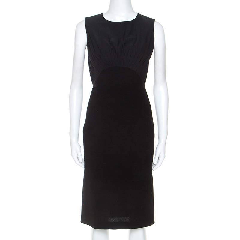 Diane Von Furstenberg Black Crepe Sleeveless Asabi Dress S