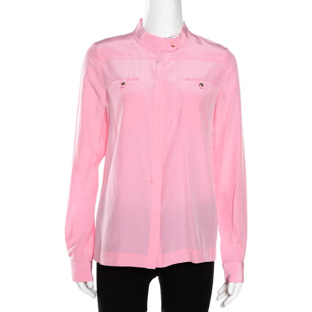 Diane Von Furstenberg Pink Silk Marianna Top S