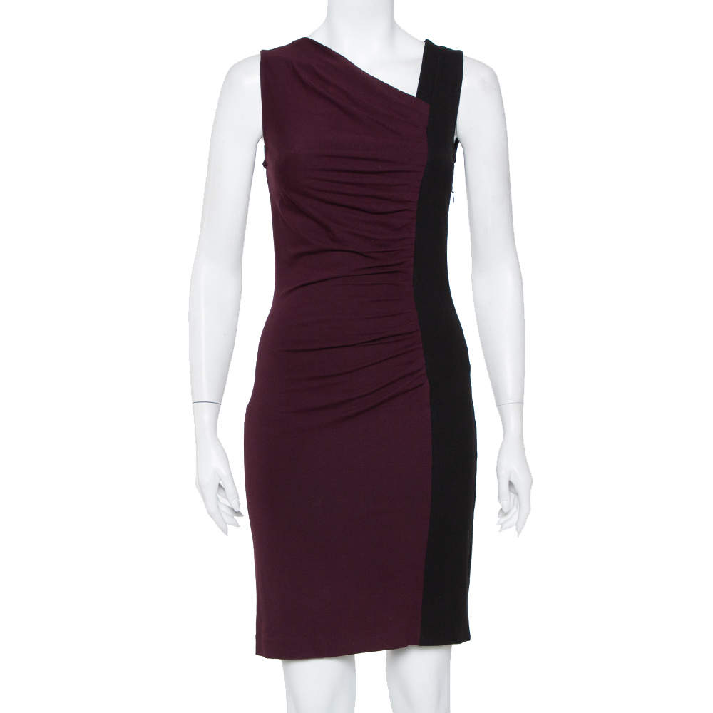 Diane Von Furstenberg Colorblock Stretch Knit Gladys Dress S