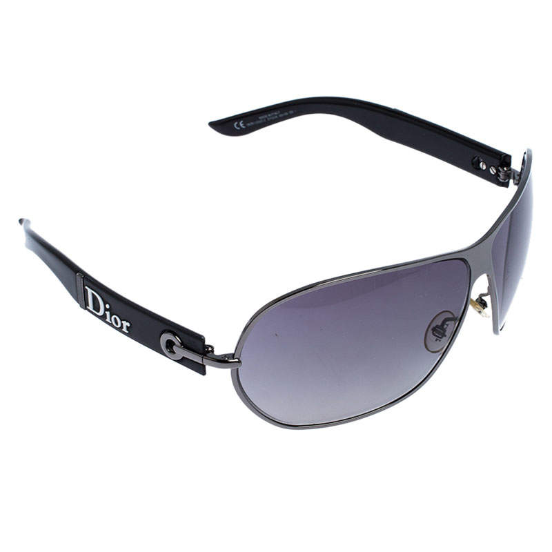 Dior Black Gradient Logo 2 Sunglasses