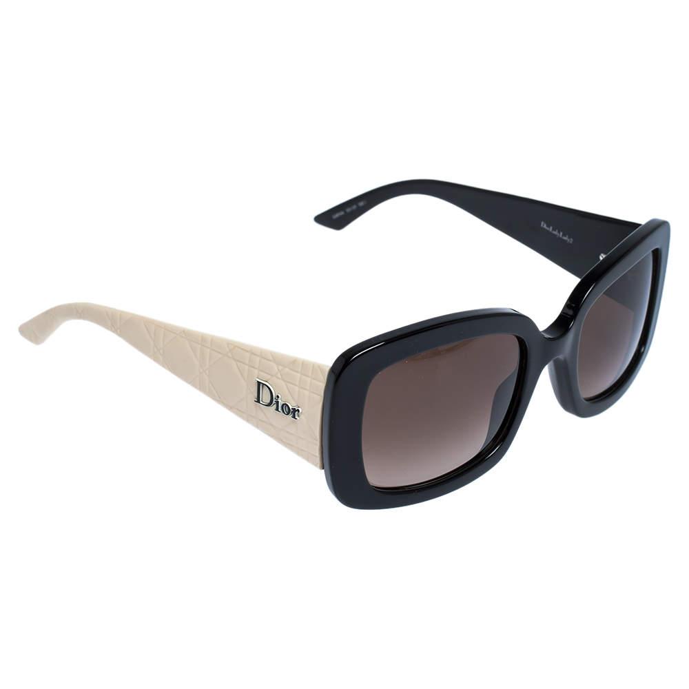 Dior Black/Light Beige G4FHA Square Sunglasses