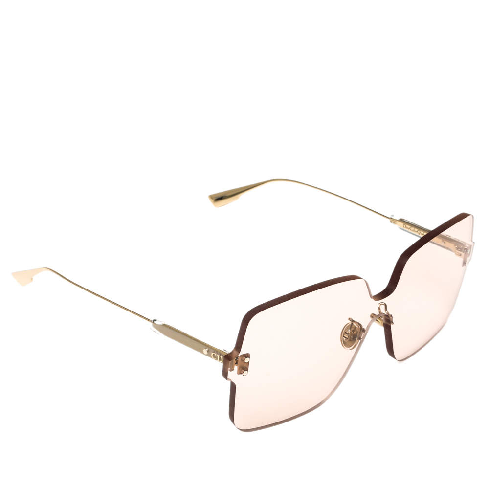 Dior Gold Tone/ Pink Dior ColorQuake1 Oversized Sunglasses