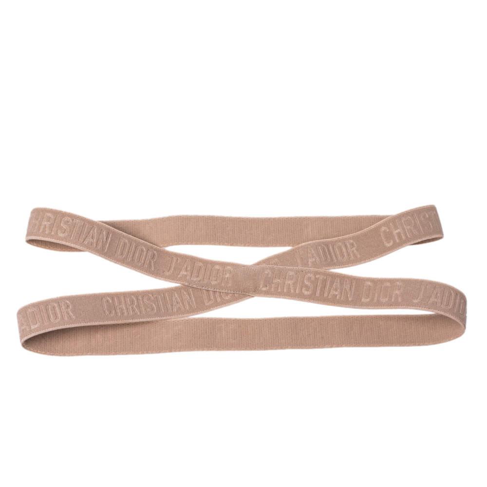 Dior J'adior Beige Stretch Headband