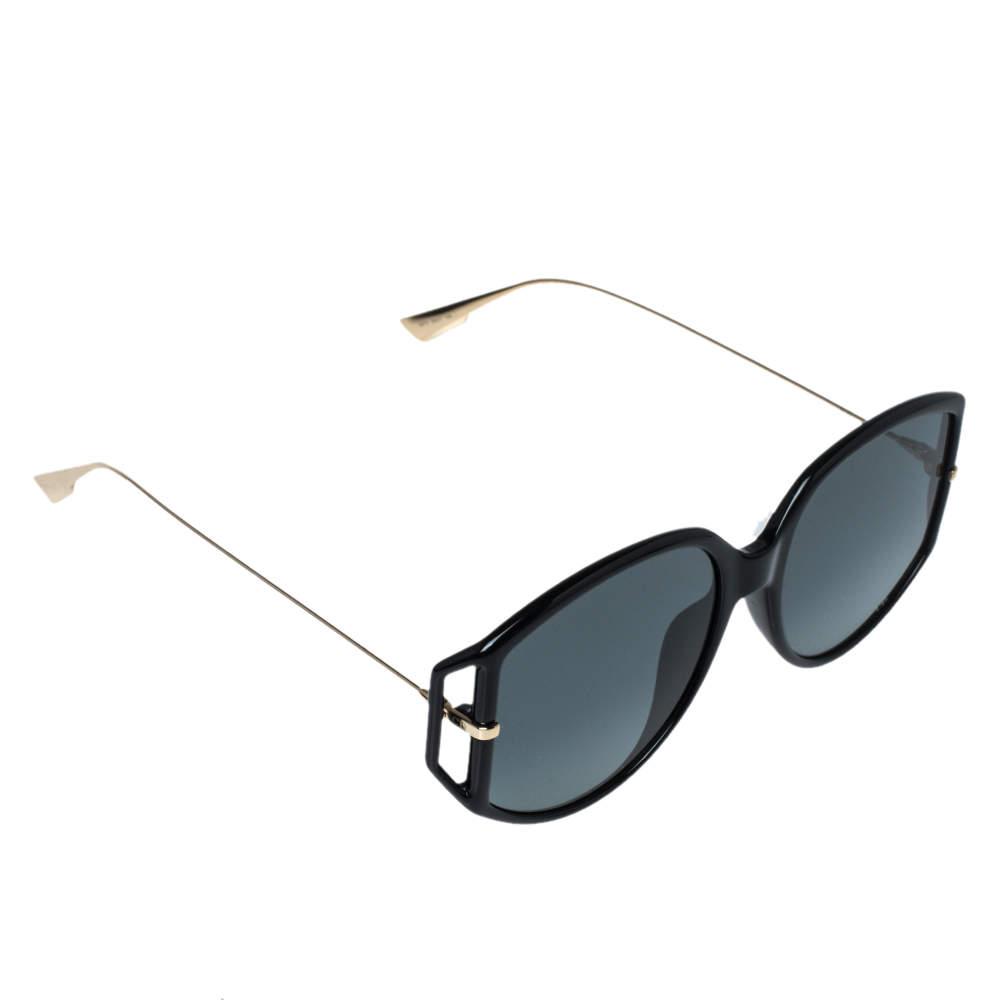 Dior Black & Gold / Grey DiorDirection 2 Oversized Sunglasses