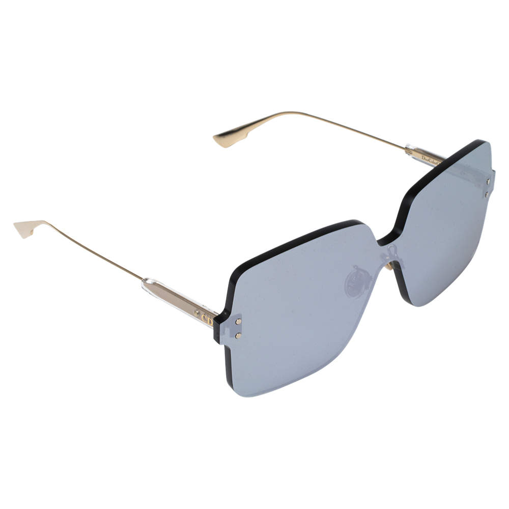 Dior Gold/Silver Mirror ColorQuake1 YB7T4 Shield Sunglasses