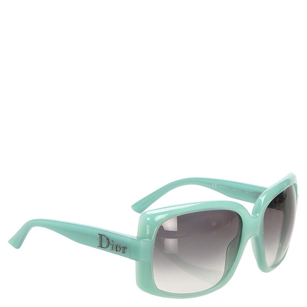 Dior Green Plastic Square Tinted Sunglasses