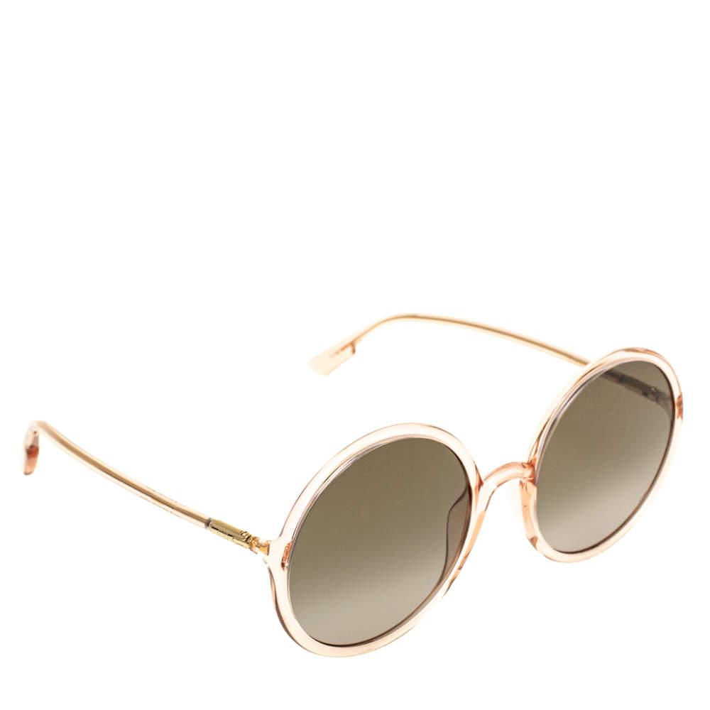 Dior Pink/Grey Gradient Dior So Stellaire 3 Round Sunglasses