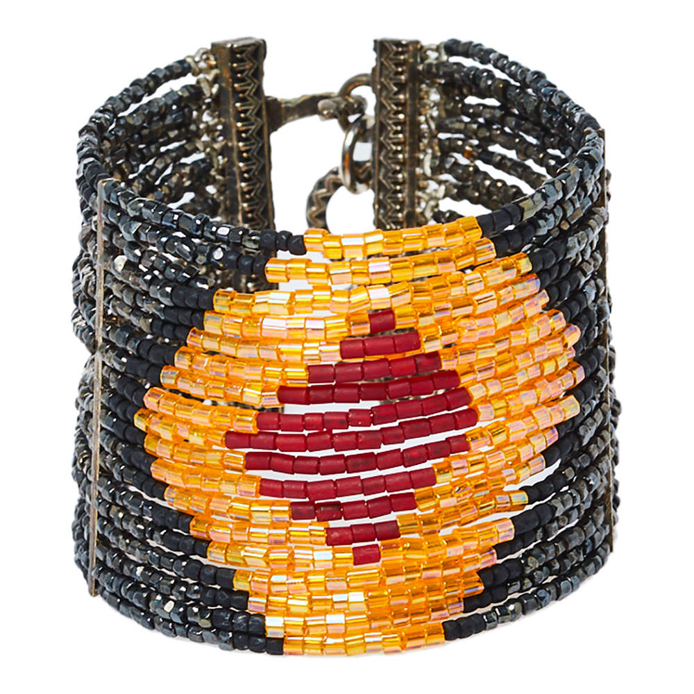 Dior Boutique Masai Multi Strand Beaded Hook Bracelet