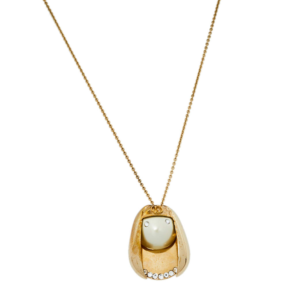 Dior Tell Me Dior Zodiac Virgo Pendant Necklace
