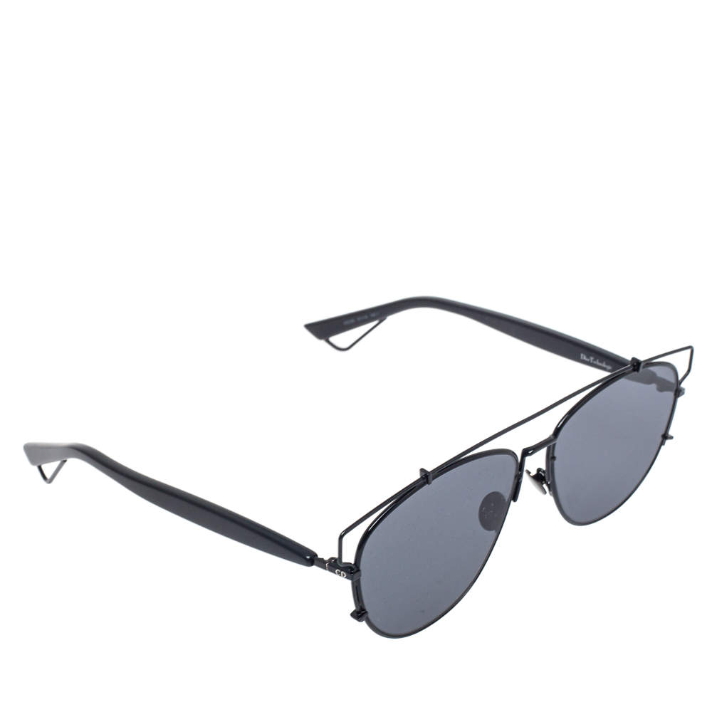 Dior Black Tone/ Grey 65Z2K DiorTechnologic Aviator Sunglases