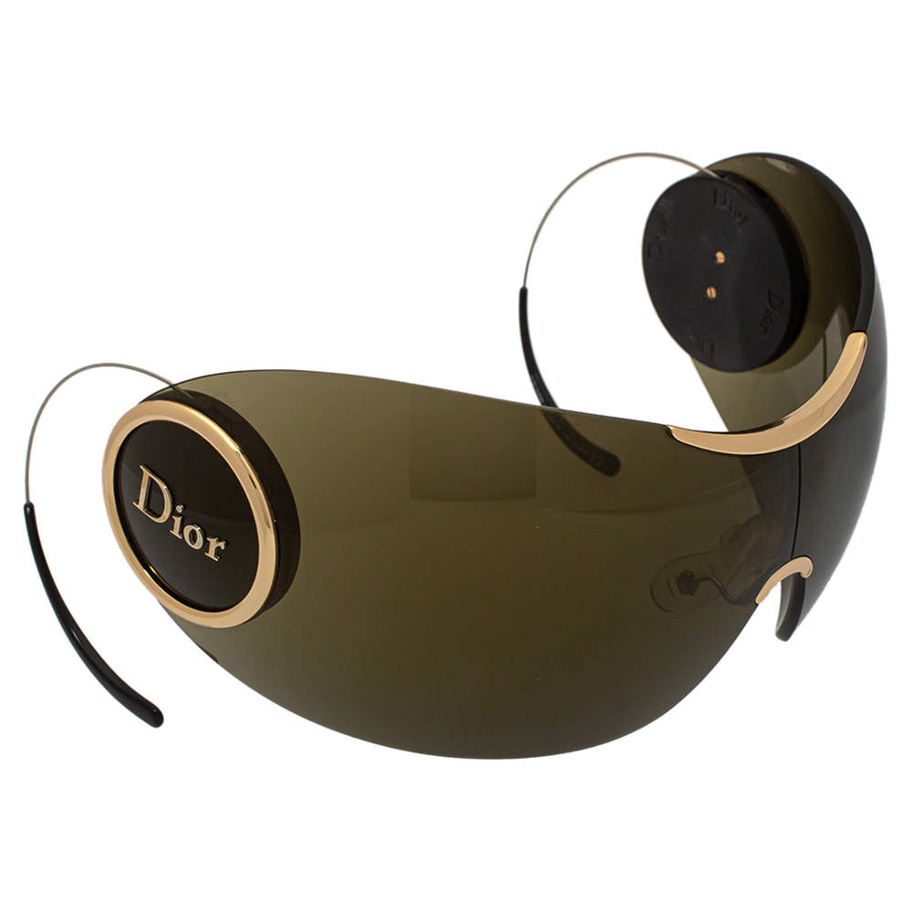 Dior Grey Retractable Temple Arms Green Sport1 Visor Sunglasses