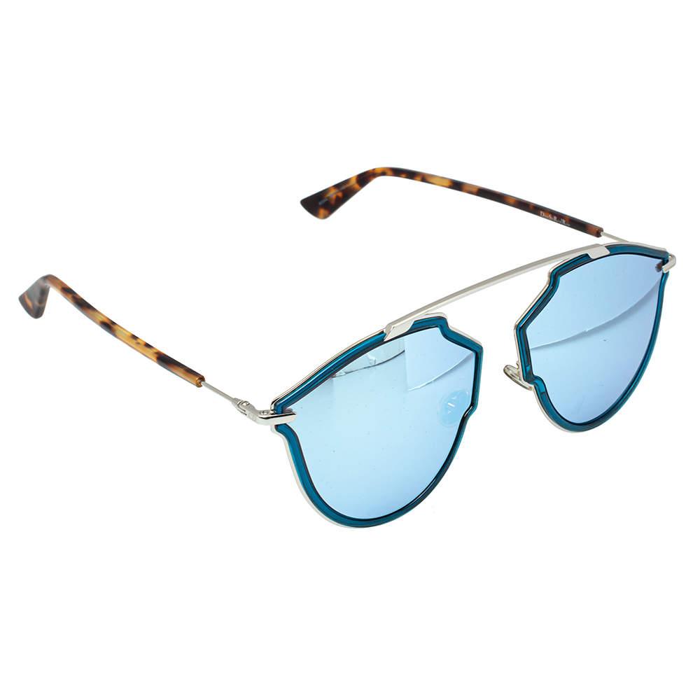 Dior Blonde Havana/ Blue Mirrored 8IGA4 SoRealRise Aviator Sunglasses